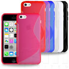SLIM FITTED S-LINE DESIGN GRIP SILICONE GEL SKIN CASE COVER FOR APPLE iPHONE 5c