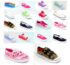 Kids Childrens Boys Girls Casual Canvas Shoes Pumps Trainers Lace Up Plimsolls