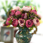 Realistic Artificial Silk Fake Peony Hydrangea Flower Arrangement Home Decor New