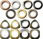 Rufflette Solar Eyelet Curtain Fabric Rings Different Shapes And Colours