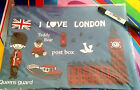 JUMBO - I LOVE LONDON Quality Canvas Pencil Case Storage bag fits A4 retro
