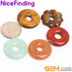 20mm ring gemstone beads for earrings and pendant(hole 5mm) 1 pcs 4 materials