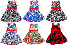 Girls Minx Premium Designer Summer Baby Toddler Kids Sun Dress 1-6 yrs NEW