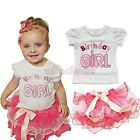 Baby Girls Newborn Outfit Set Top T-shirt Tutu Skirt Dress Birthday 6 12 18 24M