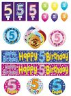 5th Birthday AGE 5 - Large Range of Party BADGES - Small/Large/Giant/Shaped