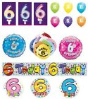 6th Birthday AGE 6 - Large Range of Party BADGES - Small/Large/Giant/Shaped