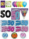 50th Birthday AGE 50 - Large Range of CAKE CANDLES & Party BANNERS(Plastic/Foil)