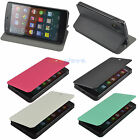 4 Colors Slim Flip Stand PU Leather Hard Back Case Cover for LG Google Nexus 5