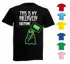 NEW WOMENS MEN THIS IS MY HALLOWEEN FANCY DRESS COSTUME GLOW IN THE DARK T SHIRT