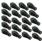 1-20 pcs 5.5x2.1mm DC Power Jack Plug Female Connector Adapter For CCTV Camera