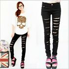fashion new Womens Sexy Cut-out Punk Ripped Pants Skinny Jeans Trousers hot sale