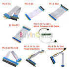 1X/8X/16X 1X To 16X PCI-E Extension Cable PCI Extender Riser Card Adapter SYUK
