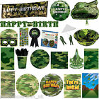 Army War Millitary Camouflage Party Supplies Tableware Decorations 1 Listing PS