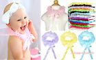 Rainbow Color Chiffon Ruffle Ribbon Bow Scarf Neck Accessory Wedding Party Girl