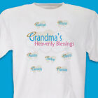 Personalized T-Shirt Mom or Grandma My Heavenly Blessings Angels Halo's Wings