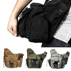 Molle Tactical Shoulder Bag Pouch Travel Backpack Camera Military Strap Bag UK
