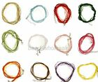 10Pcs Organza Voile String ribbon Cord Necklace Lobster Clasp Chain U Pick Color
