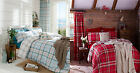 Easy Care Tartan Duvet Set Catherine Lansfield Modern Bedding with Check Reverse