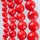 Red Turquoise Gemstone Round Loose Beads Strand 6MM 8MM 10MM 12MM SBG129