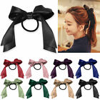 Multicolor Stylish Young Satin Ribbon Bow Hair Band Ponytail For Women