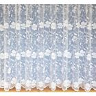 Stunning White Net Curtains Floral SOLD BY THE METRE