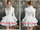 Cute Kawaii Princess Sweet Women Lolita Slim Lace Cake Jacket Dress White S~L