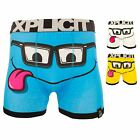 Xplicit Men's 'Nerdy Specs' Funny Novelty Boxer Shorts Stag Do Boxers