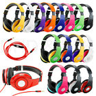 3.5 mm Adjustable Over-Ear Headphone Earphone for iPod iPhone MP3 MP4 with Mic