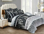 M120 Queen/King Size Bed Quilt/Doona/Duvet Cover Pillowcases Set New