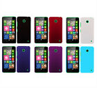 Hard Rubberized Matte Snap-On Slim Cover Case for Nokia Lumia 630