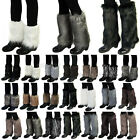 Women Faux Fur Fluffy Shaggy Leg Warmers Boot Shoes Covers Ankle Sleeve Muffs