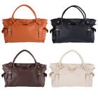 Womens Lady OL Fashion PU Leather Big Capacity Tote Handbag Shoulder Bag