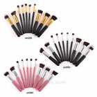 FRÄULEIN3°8 10 Pcs Professional Cosmetic Makeup Kabuki Brushes Set