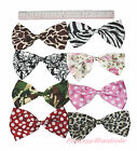 Animal Floral Print Giant Extra Large 15CM Satin Bow Hair Clip Girl Accessory