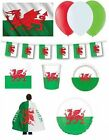 WALES FLAGS/BANNERS & PARTY ITEMS (Partyware/Decorations)
