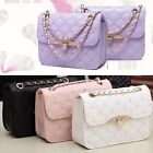 Fashion Womens Ladies Shoulder Bag Messenger Handbag Synthetic Leather Chain New