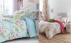 Easy Care Floral Canterbury Duvet Set Catherine Lansfield Polka Dot Back Quilt