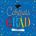 Congrats Star Grad Graduation Blue Napkins 16 ct Lunch or Beverage Party