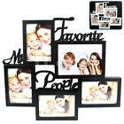 Multi Collage Photo Picture Frame 6x4 Aperture Wall Black White - Large Writing