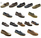 Casual mens Moccasin Leather sailing Loafers slip on lace up Deck Dek Boat Shoes