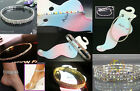 New Fashion Lots 1-5Rows Styles Rhinestone Stretchy Anklets More Colors