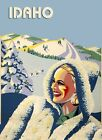 Fashion Blond Girl Idaho Ski Skiing Race Sport MountainPoster Repro FREE S/H