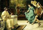 SIR LAWRENCE ALMA-TADEMA The Roman Dance flute ENJOYMENT couple music leg NEW!