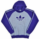 Adidas Big Boys' Originals Trefoil Vintage Raglan Pullover Hoodie-Gray/Purple