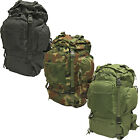DELUXE 50L ARMY/MILITARY FORCES HIKING BACKPACK/RUCKSACK BAG WITH METAL FRAME