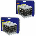 8 Black Compatible Printer Ink Cartridges for Brother LC970 / LC1000 Range