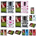 Impact Design Hard Silicone Hybrid Protector TUFF Stand Case Cover+SP for LG G2