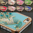 Luxury Crystal Rhinestone Diamond Bling Leather Case Cover For Apple iPhone 5 5S