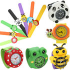 Fashion Boy Girl Children Kid Animal Slap Snap On Silicone Wrist Watch Cute Gift
