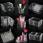Clear Makeup Lipstick Acrylic Cosmetic Storage Rack Display Brush Holder Drawer